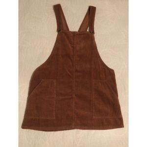 Corduroy light brown dress